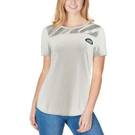 アンダーアーマー UNDER ARMOUR ジェッツ レディース オーセンティック パフォーマンス Tシャツ 灰色 グレー グレイ レディースファッション トップス カットソー 【 New York Jets Womens Combine
