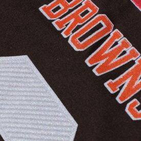マジェスティック MAJESTIC クリーブランド ブラウンズ ロゴ レディース スリーブ Tシャツ WOMEN'S & 【 SLEEVE JOHNNY MANZIEL CLEVELAND BROWNS HISTORIC LOGO FAIR CATCH V NAME NUMBER LONG TSHIRT BROWN 】 レディー