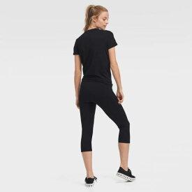 DKNY SPORT クリーブランド ブラウンズ レディース Tシャツ WOMEN'S 【 CLEVELAND BROWNS PLAYERS SIDETIE TSHIRT BLACK 】 レディースファッション トップス カットソー 送料無料