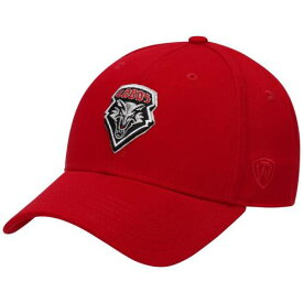 TOP OF THE WORLD スナップバック バッグ 【 SNAPBACK NEW MEXICO LOBOS OBSERVER ADJUSTABLE HAT RED 】 キャップ 帽子 メンズキャップ 送料無料