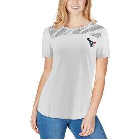 アンダーアーマー UNDER ARMOUR ヒューストン テキサンズ レディース オーセンティック パフォーマンス Tシャツ 灰色 グレー グレイ レディースファッション トップス カットソー 【 Houston