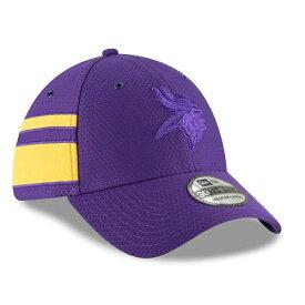 ニューエラ NEW ERA ミネソタ バイキングス サイドライン ラッシュ 紫 パープル バッグ キャップ 帽子 メンズキャップ メンズ 【 Minnesota Vikings 2018 Nfl Sideline Color Rush Official 39thirty Flex Hat - P