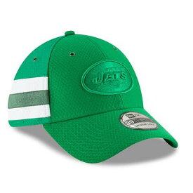 ニューエラ NEW ERA ジェッツ サイドライン ラッシュ 緑 グリーン バッグ キャップ 帽子 メンズキャップ メンズ 【 New York Jets 2018 Nfl Sideline Color Rush Official 39thirty Flex Hat - Kelly Green 】 Kelly Gr