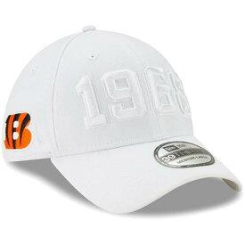 ニューエラ NEW ERA シンシナティ ベンガルズ サイドライン ラッシュ 白 ホワイト バッグ キャップ 帽子 メンズキャップ メンズ 【 Cincinnati Bengals 2019 Nfl Sideline Color Rush 39thirty Flex Hat - White