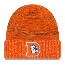 ニューエラ NEW ERA デンバー ブロンコス ラッシュ ニット 橙 オレンジ バッグ キャップ 帽子 メンズキャップ メンズ 【 Denver Broncos 2017 Color Rush Knit Hat - Orange 】 Orange