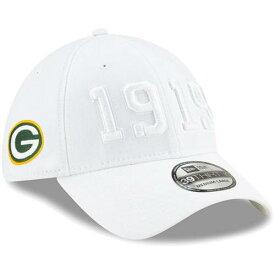 ニューエラ NEW ERA 緑 グリーン パッカーズ サイドライン ラッシュ 白 ホワイト バッグ キャップ 帽子 メンズキャップ メンズ 【 Green Bay Packers 2019 Nfl Sideline Color Rush 39thirty Flex Hat - White 】