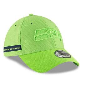 ニューエラ NEW ERA シアトル シーホークス サイドライン ラッシュ 【 NFL RUSH SEATTLE SEAHAWKS 2018 SIDELINE COLOR OFFICIAL 39THIRTY FLEX HAT NEON GREEN 】 バッグ キャップ 帽子 メンズキャップ 送料無料