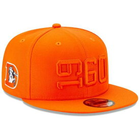 ニューエラ NEW ERA デンバー ブロンコス サイドライン ラッシュ スナップバック バッグ 橙 オレンジ キャップ 帽子 メンズキャップ メンズ 【 Denver Broncos 2019 Nfl Sideline Color Rush Historic 9fift