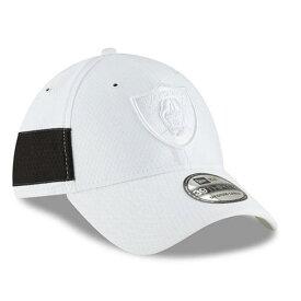 ニューエラ NEW ERA レイダース サイドライン ラッシュ 白 ホワイト バッグ キャップ 帽子 メンズキャップ メンズ 【 Las Vegas Raiders 2018 Nfl Sideline Color Rush Official 39thirty Flex Hat - White 】 White