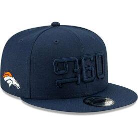 ニューエラ NEW ERA デンバー ブロンコス サイドライン ラッシュ スナップバック バッグ 【 NFL RUSH SNAPBACK DENVER BRONCOS 2019 SIDELINE COLOR 9FIFTY ADJUSTABLE HAT NAVY 】 キャップ 帽子 メンズキャップ 送