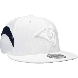 ニューエラ NEW ERA ラムズ ラッシュ 白 ホワイト バッグ キャップ 帽子 メンズキャップ メンズ 【 Los Angeles Rams Kickoff Color Rush 9fifty Adjustable Hat - White 】 White