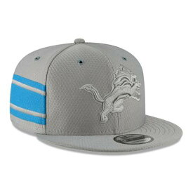ニューエラ NEW ERA デトロイト ライオンズ サイドライン ラッシュ スナップバック バッグ 灰色 グレー グレイ キャップ 帽子 メンズキャップ メンズ 【 Detroit Lions 2018 Nfl Sideline Color Rush Of