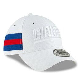 ニューエラ NEW ERA ジャイアンツ サイドライン ラッシュ 白 ホワイト バッグ キャップ 帽子 メンズキャップ メンズ 【 New York Giants 2018 Nfl Sideline Color Rush Official 39thirty Flex Hat - White 】 White