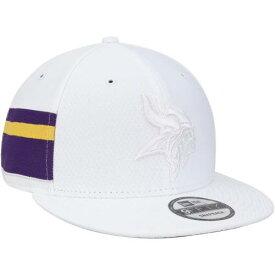 ニューエラ NEW ERA ミネソタ バイキングス ラッシュ 白 ホワイト バッグ キャップ 帽子 メンズキャップ メンズ 【 Minnesota Vikings Kickoff Color Rush 9fifty Adjustable Hat - White 】 White