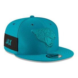 ニューエラ NEW ERA ジャクソンビル ジャガース サイドライン ラッシュ スナップバック バッグ キャップ 帽子 メンズキャップ メンズ 【 Jacksonville Jaguars 2018 Nfl Sideline Color Rush Official 9fifty