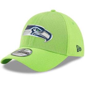 ニューエラ NEW ERA シアトル シーホークス ラッシュ 緑 グリーン バッグ キャップ 帽子 メンズキャップ メンズ 【 Seattle Seahawks 2017 Color Rush 39thirty Flex Hat - Neon Green 】 Neon Green
