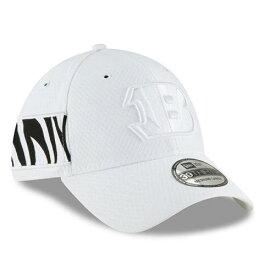 ニューエラ NEW ERA シンシナティ ベンガルズ サイドライン ラッシュ 白 ホワイト バッグ キャップ 帽子 メンズキャップ メンズ 【 Cincinnati Bengals 2018 Nfl Sideline Color Rush Official 39thirty Flex Hat