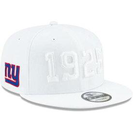 ニューエラ NEW ERA ジャイアンツ サイドライン ラッシュ スナップバック バッグ 白 ホワイト キャップ 帽子 メンズキャップ メンズ 【 New York Giants 2019 Nfl Sideline Color Rush 9fifty Adjustable Snapb