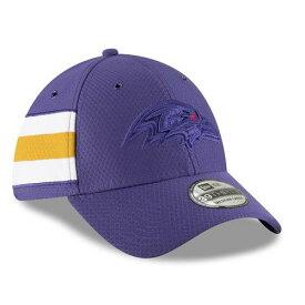 ニューエラ NEW ERA ボルティモア レイブンズ サイドライン ラッシュ 紫 パープル バッグ キャップ 帽子 メンズキャップ メンズ 【 Baltimore Ravens 2018 Nfl Sideline Color Rush Official 39thirty Flex Hat -