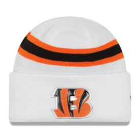 ニューエラ NEW ERA シンシナティ ベンガルズ ラッシュ フィールド ニット 白 ホワイト バッグ キャップ 帽子 メンズキャップ メンズ 【 Cincinnati Bengals Color Rush On Field Cuffed Knit Hat - White 】