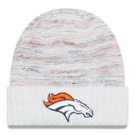 ニューエラ NEW ERA デンバー ブロンコス ラッシュ ニット 白 ホワイト バッグ キャップ 帽子 メンズキャップ メンズ 【 Denver Broncos 2017 Color Rush Kickoff Knit Hat - White 】 White