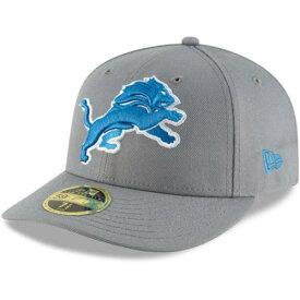 ニューエラ NEW ERA デトロイト ライオンズ ラッシュ 灰色 グレー グレイ 【 RUSH GRAY NEW ERA DETROIT LIONS COLOR OMAHA LOW PROFILE 59FIFTY FITTED HAT 】 バッグ キャップ 帽子 メンズキャップ 帽子