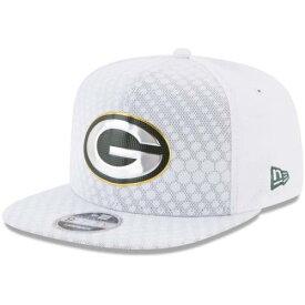 ニューエラ NEW ERA 緑 グリーン パッカーズ ラッシュ スナップバック バッグ 白 ホワイト キャップ 帽子 メンズキャップ メンズ 【 Green Bay Packers 2017 Color Rush 9fifty Snapback Adjustable Hat - White