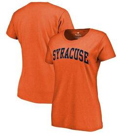 FANATICS BRANDED シラキュース 橙 オレンジ レディース Tシャツ WOMEN'S 【 ORANGE SYRACUSE BASIC ARCH TSHIRT 】 レディースファッション トップス カットソー 送料無料