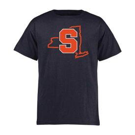 FANATICS BRANDED シラキュース 橙 オレンジ 子供用 スケートボード Tシャツ 紺 ネイビー キッズ ベビー マタニティ トップス ジュニア 【 Syracuse Orange Youth Tradition State T-shirt - Navy 】 Navy