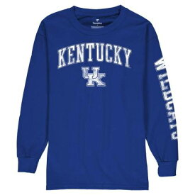 FANATICS BRANDED ケンタッキー 子供用 ロゴ スリーブ Tシャツ 【 SLEEVE KENTUCKY WILDCATS YOUTH DISTRESSED ARCH OVER LOGO LONG TSHIRT ROYAL 】 キッズ ベビー マタニティ トップス 送料無料