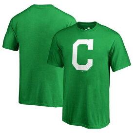 FANATICS BRANDED クリーブランド インディアンズ 子供用 白 ホワイト ロゴ Tシャツ 緑 グリーン St. キッズ ベビー マタニティ トップス ジュニア 【 Cleveland Indians Youth St. Patricks Day White Logo T-s