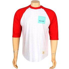 ダイヤモンド サプライ ラグラン Tシャツ 【 SUPPLY RAGLAN DIAMOND CO OG SIGN TEE WHITE RED 】 メンズファッション トップス カットソー 送料無料