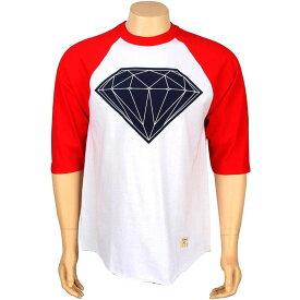 ダイヤモンド サプライ ラグラン Tシャツ 【 SUPPLY RAGLAN DIAMOND CO BIG BRILLIANT TEE WHITE RED 】 メンズファッション トップス カットソー 送料無料
