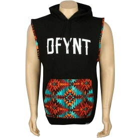 ベスト 【 DEFYANT AZTEC HOOD VEST BLACK 】 メンズファッション オーダーメイド ジレ 送料無料
