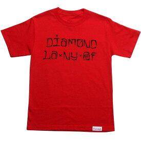 ダイヤモンド サプライ Tシャツ 【 SUPPLY DIAMOND CO CITIES TEE RED 】 メンズファッション トップス カットソー 送料無料
