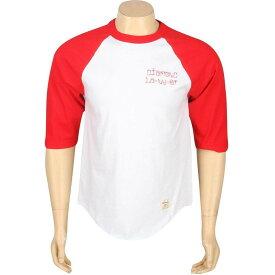 ダイヤモンドサプライ DIAMOND SUPPLY CO ダイヤモンド ラグラン Tシャツ メンズファッション トップス カットソー メンズ 【 Diamond Cities Raglan Tee (red / White) 】 Red / White