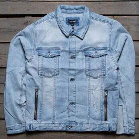 デニム ジャケット 青 ブルー デニムジャケット 【 BLUE ZANEROBE MEN GREASER DENIM 】 メンズファッション コート ジャケット