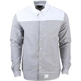 ダイヤモンドサプライ DIAMOND SUPPLY CO オックスフォード メンズファッション トップス カジュアルシャツ メンズ 【 Men Blocked Oxford Shirt (white / Grey) 】 White / Grey