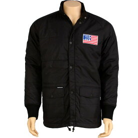 【 THE HUNDREDS PUFF JACKET BLACK 】 メンズファッション コート ジャケット 送料無料