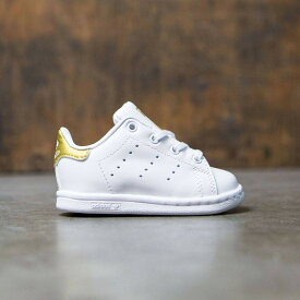 スニーカー 【 ADIDAS TODDLERS STAN SMITH I WHITE GOLD METALLIC 】 メンズ 送料無料