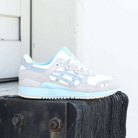 アシックス スニーカー 【 ASICS TIGER WOMEN GELLYTE III WHITE LIGHT GREY 】 送料無料