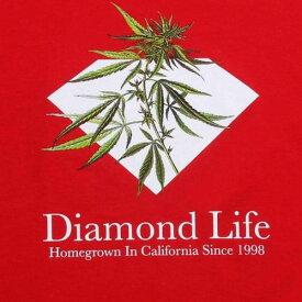 ダイアモンドサプライ DIAMOND SUPPLY CO ダイヤモンド サプライ Tシャツ 赤 レッド ダイアモンドサプライ メンズ 【 SUPPLY RED HOMEGROWN TEE 】