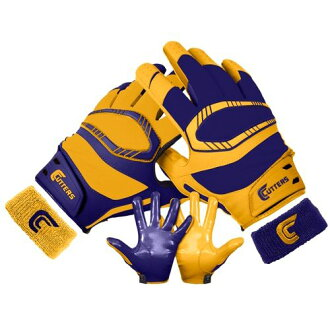 CUTTERS cutters REV PRO Pro YIN YANG RECEIVER GLOVES mens PURPLE violet and purple GOLD (eb14590095) gloves