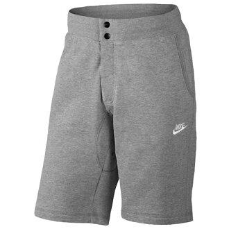 耐克NIKE V442 FT SHORTS短裤半裤子MENS人DARK GREY GRAY灰色、灰色HEATHER希瑟WHITE白、白一半裤子