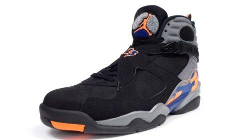 Air Jordan(エア ジョーダン) RETRO 8 (305381-043) Phoenix Suns【海外取寄せ☆レア商品】 Black/Bright Citrus-Cool Grey-Deep Royal Blue メンズ・男性用