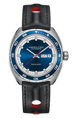 アメリカン クラシック パン レザー ストラップ ; american classic pan europ automatic leather strap watch 42mm メンズ腕時計 腕時計