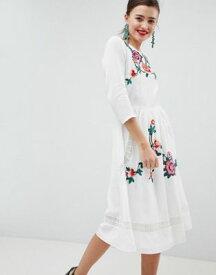 5cd568fe7bfe8 エイソス ASOS デザイン プレミアム レース ミディ ドレス ワンピース オープン バック クリーム レディース 女性用 レディースファッション