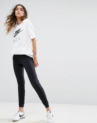 モダン ブラック イン フィット パンツ スリム スウェット ナイキ 黒 nike modern slim fit sweat pants in black ボトムス レディースファッション