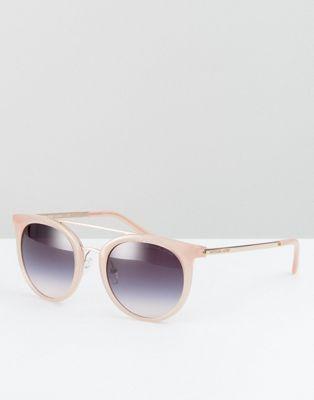 アクセサリー マイケル イン コース ラウンド ブロウ ピンク ダブル バー michael kors round sunglasses in pink with double brow bar バッグ ブランド雑貨 小物 サングラス 眼鏡