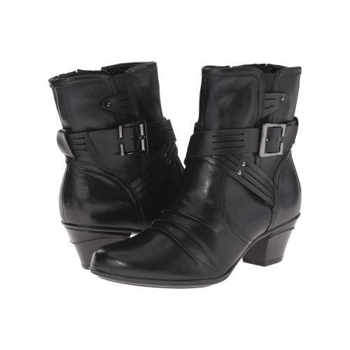 アース オデッセイ 黒 ブラック カーフ レザー レディース 女性用 靴 ブーツ レディース靴 【 BLACK EARTH ODYSSEY CALF LEATHER 】